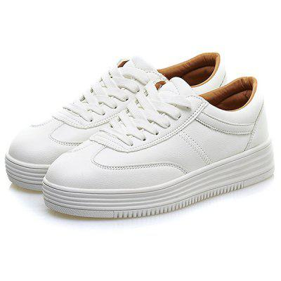 Buy WHITE Chunky White Trainers for $30.91 in GearBest store