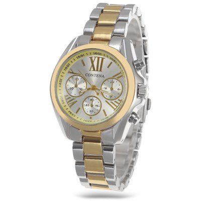Buy GOLD AND SILVER Contena Women Quartz Watch for $13.50 in GearBest store
