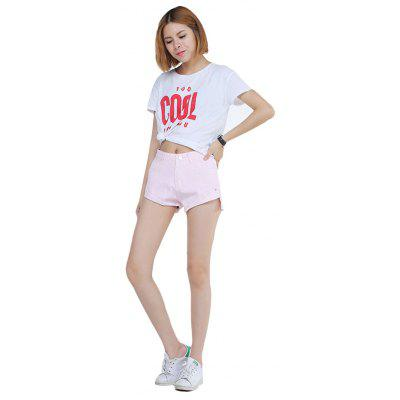 Cool Pink Jean Shorts for Women