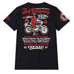 Cartoon imprimé Biker T Shirts - NOIR