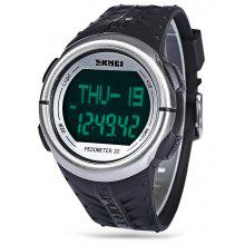 Skmei 1058 Multifunctional Heart Rate stating Watch Pedometer LED Wristwatch
