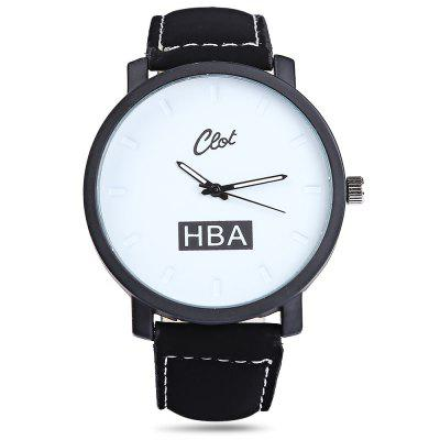 Clot Big Dial Quartz Watch with Leather Band for MenMens Watches<br>Clot Big Dial Quartz Watch with Leather Band for Men<br><br>Available Color: Black,White<br>Band material: Leather<br>Case material: Stainless Steel<br>Clasp type: Pin buckle<br>Display type: Analog<br>Movement type: Quartz watch<br>Package Contents: 1 x Watch<br>Package size (L x W x H): 27.00 x 5.40 x 2.00 cm / 10.63 x 2.13 x 0.79 inches<br>Package weight: 0.0800 kg<br>Product size (L x W x H): 26.00 x 4.40 x 1.00 cm / 10.24 x 1.73 x 0.39 inches<br>Product weight: 0.0500 kg<br>Shape of the dial: Round<br>The band width: 2.0 cm / 0.79 inches<br>The dial diameter: 4.4 cm / 1.73 inches<br>The dial thickness: 1.0 cm / 0.39 inches<br>Watch style: Fashion<br>Watches categories: Male table