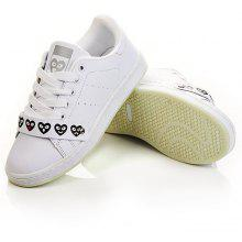 Lovely Heart White Trainers