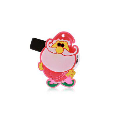 Flashy Santa Claus Snowman Style Hairpin Breastpin