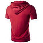 Buy WHATLEES Extended Hoodie Men T Shirt XL RED