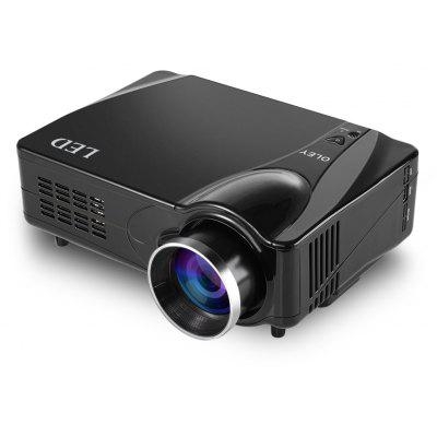 D9HB LED Home Entertainment Projector Fashionable Exquisite Design 16:9 Aspect Ratio Built - in Speakers Support HDMI / AV / VGA