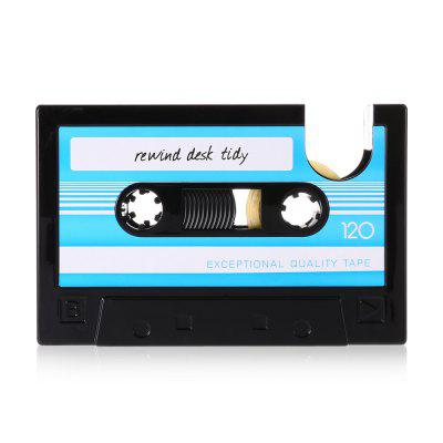 Retro Cassette Style Tape Machine + Pen Container Holder
