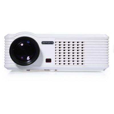 PRS200 Multifunctional Home Theater LED Projector 1500 LM 800 x 480 Pixels with Keystone Correction for Desktop Laptop