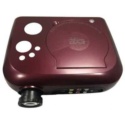 KSD - 288 40 Lumens 480 x 320 Pixels Mini LED DVD Projector Support MP3 MP4 MP5 Input