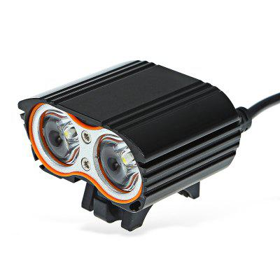 LR - K2E 4 Modes 2 LEDs Waterproof Bicycle Front Light