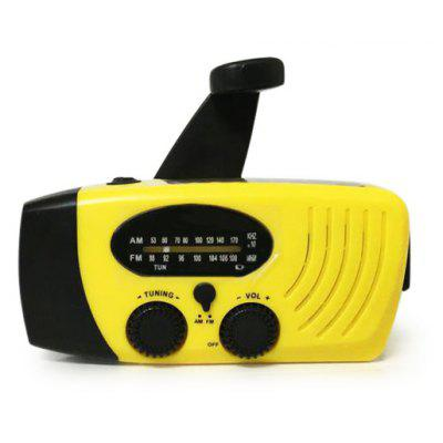 Solar Rechargeable LED Hand Crank Flashlight