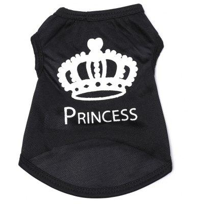 Crown Cotton Pet Clothes T-shirt Apparel Dog Tee