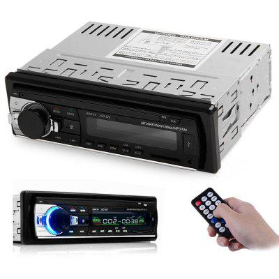 JSD - 520 Bluetooth Car Audio Stereo MP3 Player RadioFM Transmitters &amp; Players<br>JSD - 520 Bluetooth Car Audio Stereo MP3 Player Radio<br><br>Bluetooth Version: 2.0<br>Built-in EQ: Classic,Jazz,Pops,Rock<br>Degree of Distortion (%): ?0.3%<br>FM Channel: 87.5 - 108.0MHz<br>Media Format: WMA, WAV, MP3<br>Music Source: 3.5mm stereo headphone jack,Cellphone,Flash drive,SD card<br>Output Power: 4 x 60W<br>Package Contents: 1 x JSD - 520 Bluetooth Car Audio Stereo MP3 Player Radio, 1 x Remote Control, 1 x Wire, 1 x Installation Tool Set, 1 x User Manual<br>Package size (L x W x H): 22.00 x 18.50 x 8.00 cm / 8.66 x 7.28 x 3.15 inches<br>Package weight: 0.6700 kg<br>Product weight: 0.4450 kg<br>Screen size: No<br>SNR (dB): ?60db<br>Type: Car MP3 Player<br>Voltage: 12V