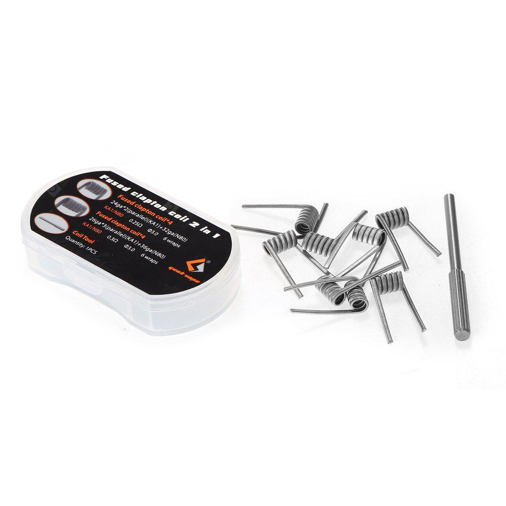 8pcs Geekvape Fused Clapton Coil with 2 Types in 1 Box - $2.99 Free ...