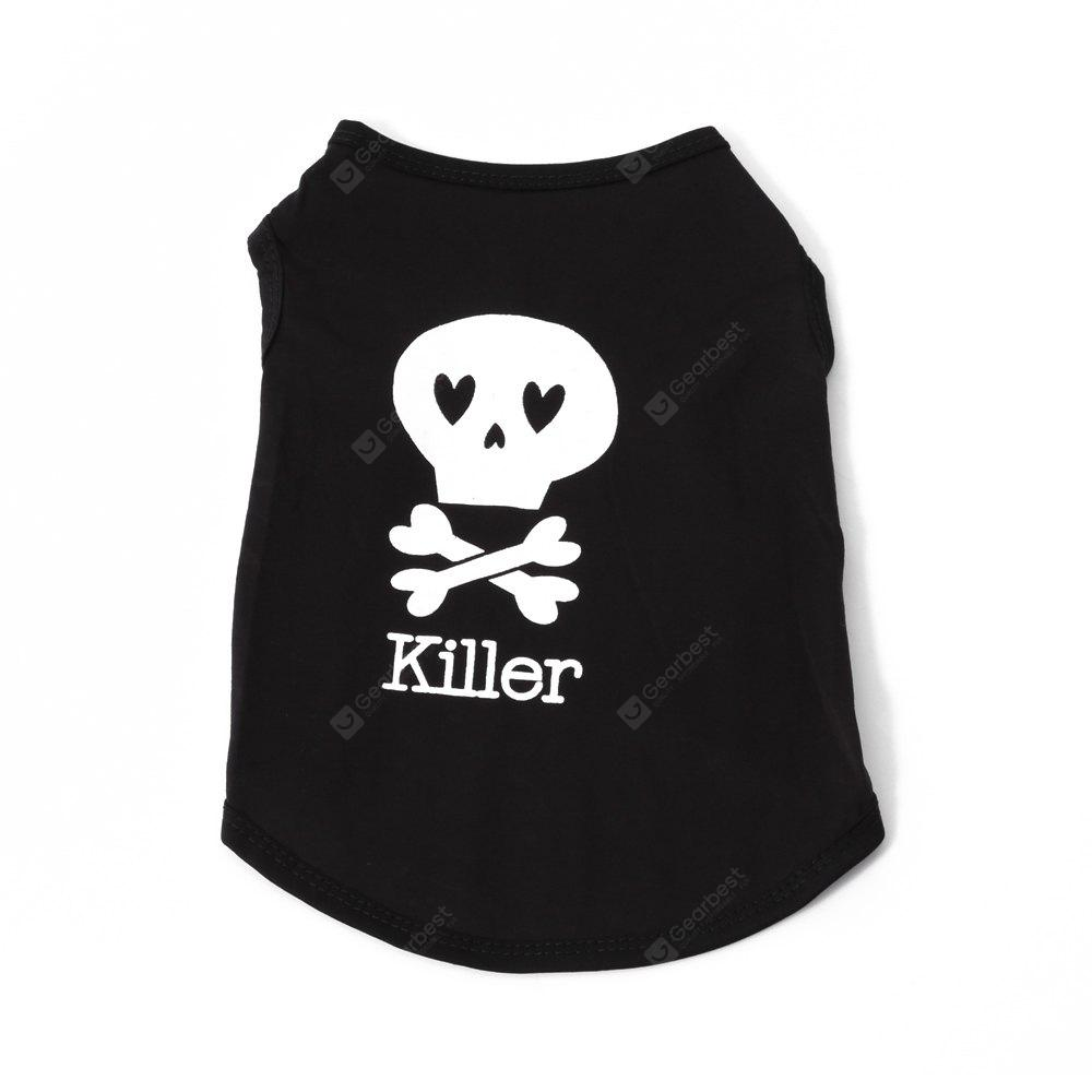Bone Cotton Pet Dog Clothes Tee Costume