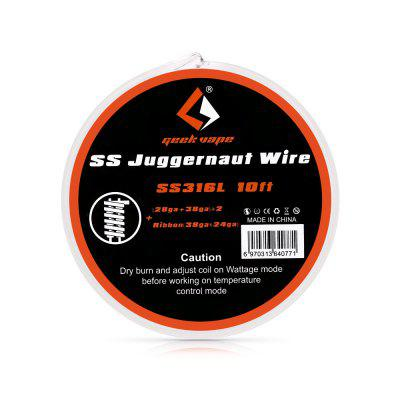 Geekvape SS Juggernaut Wire / SS316L 10ft Heating Wire