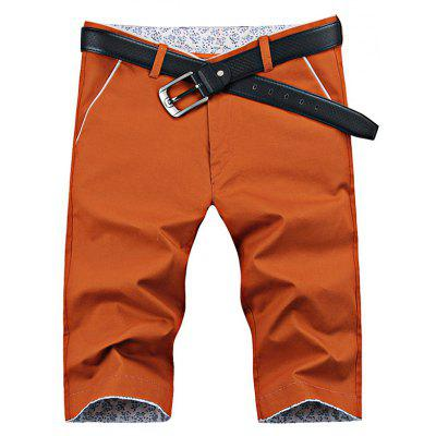 UYUK Straight Solid Color Tight High Waisted Men Half Shorts
