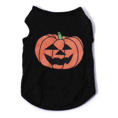 Pumpkin Cotton Pet Clothes T-shirt Apparel Dog Tee