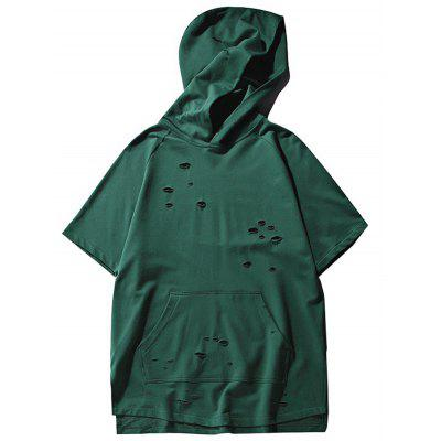 Big Pocket Dark Green Hoodie