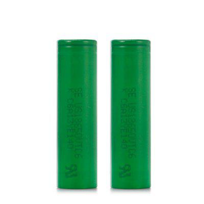2 x US18650VTC6 3120mAh 30A 3.6V 18650 Li-ion Battery