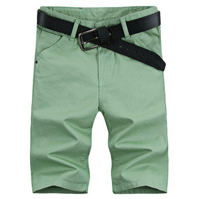 UYUK Straight Solid Color Middle Waist Men Half Shorts