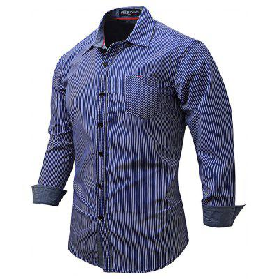 FREDDMARSHALL Men Pinstripe Shirt
