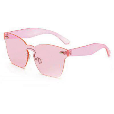 Buy PINK FRAME+PINK LENS SENLAN 9820 Square Metal Frame Leg Unisex Sunglasses for $7.79 in GearBest store