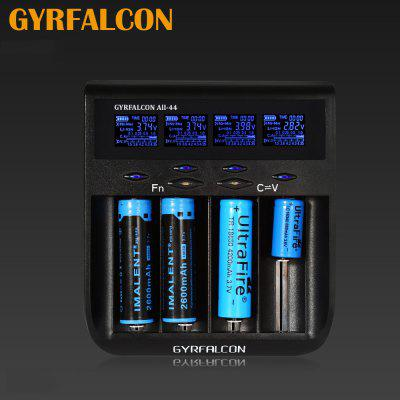 GYRFALCON All - 44 Smart Universal Battery Charger 4 Slots LCD Display