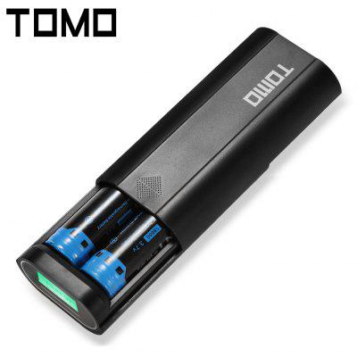 TOMO V8 - 2 Portatile Power Bank 18650 Caricabatterie