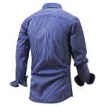 FREDDMARSHALL Men Pinstripe Shirt - BLUE