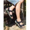 Leisure Leather Beach Sandals - BLACK GREY