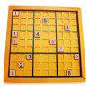 Classic Number Theme Wooden Puzzle Toy - YELLOW
