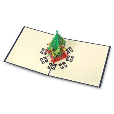 3D Paper Hollow Out Christmas Cards