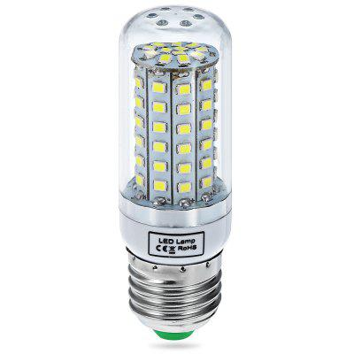 15W E27 SMD  -  2835 72 LEDs 1350Lm 6000  -  6500K LED Corn Lamp Silver Edged Bulb 100  -  120V