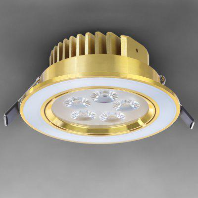 WBR - 0001 - 1 COB 5W 85  -  265V 480lm  -  550lm Adjustable LED Gold Ceiling Down Light Bulb Warm White for Commercial Lighting