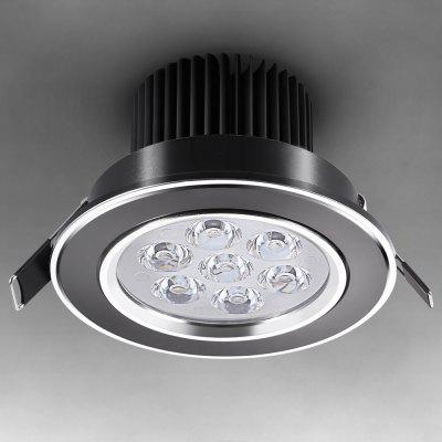 WBR - 0003 7W 85  -  265V 680  -  750LM Adjustable 7 - LED Ceiling Down Light Bulb (Brushed Black Warm White Light)