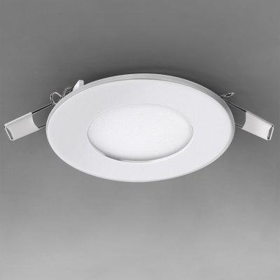QSM - P - 003 165LM 3W 85  -  265V LED White Recessed Ceiling Panel Light Downlight with Round Shape