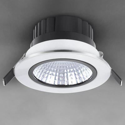 WBR - 0011 - 2 COB 680 - 750LM 7W 85 - 265V Deep Cup LED Warm White Ceiling Down Light para iluminação comercial (White Shell)
