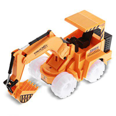 Flashing Wheel Musical Excavator Kid Toy