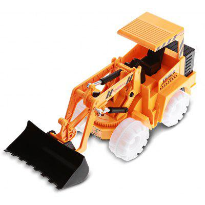 Flashing Wheel Musical Engineering Vehicle Toy