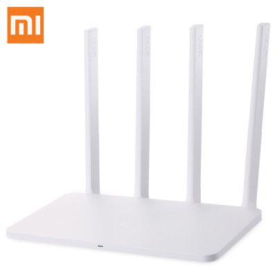 Original Xiaomi Mi 300Mbps WiFi Router 3C English Version - EU PLUG WHITE-vente flash