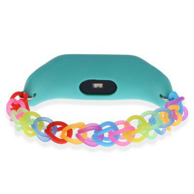 Rainbow Rubber Band for Xiaomi Mi Band 2Smart Watch Accessories<br>Rainbow Rubber Band for Xiaomi Mi Band 2<br><br>Color: Blue,Green,Orange<br>Package Contents: 1 x Rubber Bracelet for Xiaomi Mi Band 2<br>Package size: 14.00 x 8.00 x 2.00 cm / 5.51 x 3.15 x 0.79 inches<br>Package weight: 0.0250 kg<br>Product size: 14.00 x 1.50 x 1.00 cm / 5.51 x 0.59 x 0.39 inches<br>Product weight: 0.0070 kg<br>Type: 10222