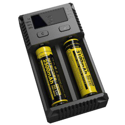 Nitecore NEW i2 Battery ChargerChargers<br>Nitecore NEW i2 Battery Charger<br><br>Brand: Nitecore<br>Charge Control Methods: -dV/dt,CC (Constant-current),CV (Constant-voltage)<br>Charging Cell Qty: 2<br>Charging Cell Type: NiCd, Ni-MH, Lithium Ion, LiFePO4<br>Circuit Detection: Yes<br>Compatible: 21700, 20700, 18700, 18650, 18500, 18490, 18350, 22500, 22650, 25500, 26500, 26650, AA, AAA, C, D, AAAA, 17670, 17650, 17500, 13450, 12650, 12500, 12340, 10500, 10440, 10350, 10340, 13500, 13650, 17350, 16650, 16500, 16340 (RCR123), 14650, 14500, 14430, 14350<br>Input Voltage: AC 100~240V 50/60HZ,DC 9-12V<br>Model: NEW I2<br>Output Voltage: 4.35V / 4.2V / 3.7V / 1.48V + / - 1pct<br>Over Charging Protection: Yes<br>Package Contents: 1 x Nitecore NEW i2 Battery Charger, 1 x Adapter<br>Package size (L x W x H): 15.00 x 9.00 x 5.00 cm / 5.91 x 3.54 x 1.97 inches<br>Package weight: 0.2820 kg<br>Product size (L x W x H): 13.20 x 7.00 x 3.50 cm / 5.2 x 2.76 x 1.38 inches<br>Product weight: 0.1260 kg<br>Reverse Polarity Protection: Yes<br>Type: Charger
