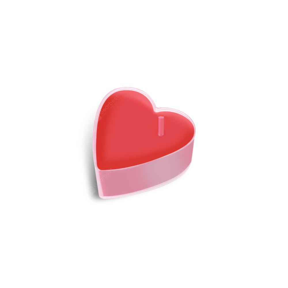 AS THE PICTURE 1Pcs Love Heart Smokeless Candles for Marriage