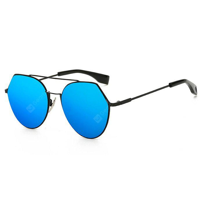 SENLAN Attractive Angular Round Sunglasses with Colored Lens