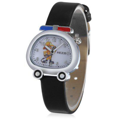KEZZI K - 1609 Fire Truck Shaped Dial Kid Quartz Watch