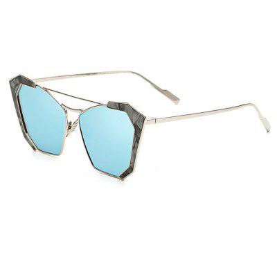 SENLAN Stylish Angular Sunglasses with Colored Lens