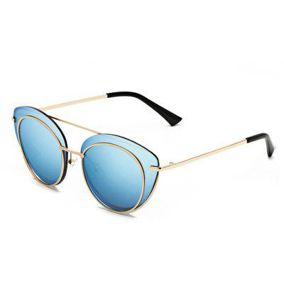 Buy SENLAN 2264 Sunglasses, GOLD FRAME + BLUE LENS, Apparel, Glasses, Stylish Sunglasses, Men's Sunglasses for $15.24 in GearBest store