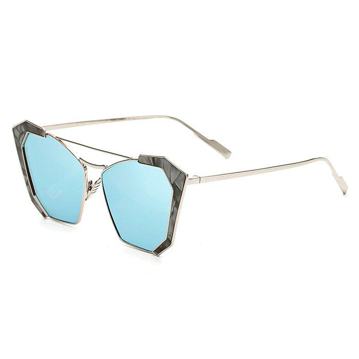 SENLAN Stylish Angular Sunglasses with Colored Lens Slim Temple