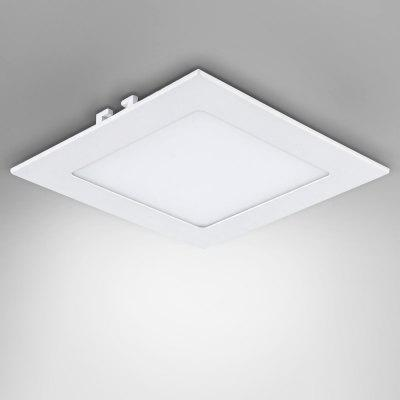 Buy COOL WHITE 9W AC85 265V 720lm 6000K Cool White Square Ceiling Lamp for $7.63 in GearBest store